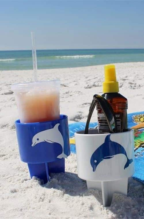 #5. Beach Drink Holder -- 17 Awesome Products That Will Make This Your Best Summer Ever