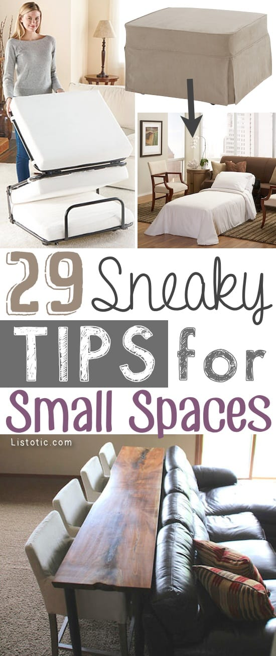 29 Sneaky DIY Small Space Storage and Organization Ideas (on a budget!)