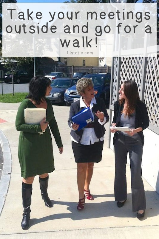#5. Walk Meetings -- 11 Sneaky Ways To Burn More Calories Every Day