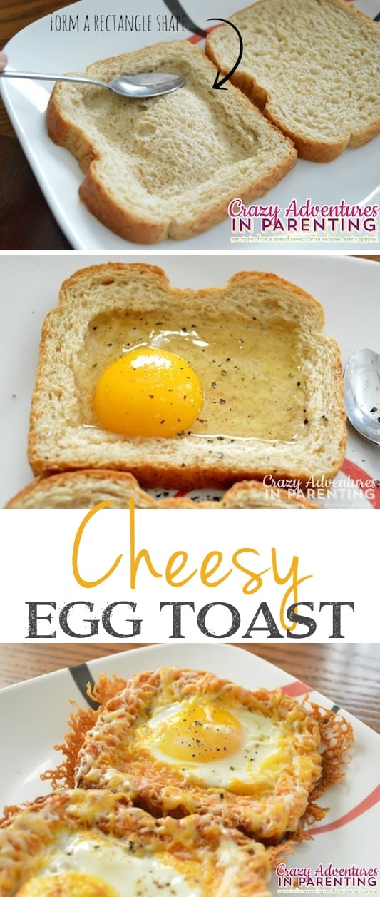 #10. Cheesy Baked Egg Toast-- What??! These look amazing. -- 30 Super Fun Breakfast Ideas Worth Waking Up For