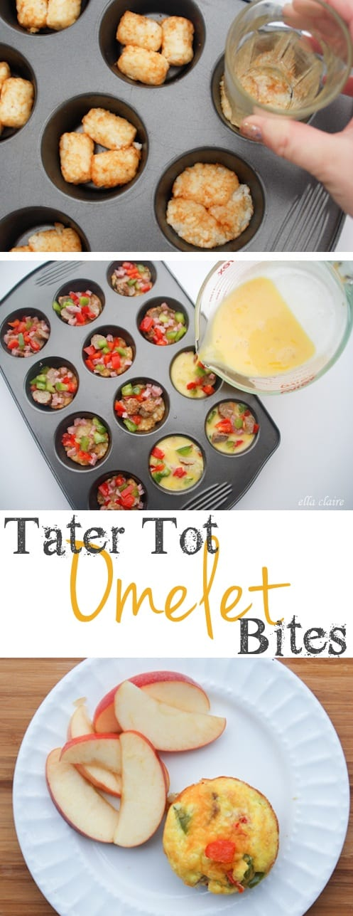 Tater Tot Omelet Bites (muffin tin recipe for breakfast) -- Quick, fast and easy breakfast recipe ideas for a crowd (brunches and potlucks)! Some of these are make ahead, some are healthy, and some are simply amazing! Everything from eggs to crockpot casseroles! Your mornings just got a little better. Listotic.com