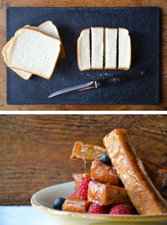 #22. Easy French Toast Sticks (great for dipping!) Kids love these.-- 30 Super Fun Breakfast Ideas Worth Waking Up For