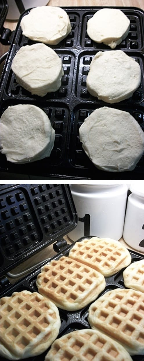 Canned Biscuit Waffles (Awesome! That's so easy.)
