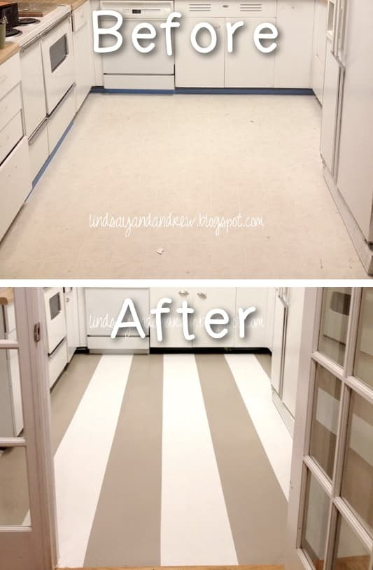How to Paint and update your linoleum floors! Yes, you can do that! -- A list of some of the best home remodeling ideas on a budget. Easy DIY, cheap and quick updates for your kitchen, living room, bedrooms and bathrooms to help sell your house! Lots of before and after photos to get you inspired! Fixer Upper, here we come. Listotic.com