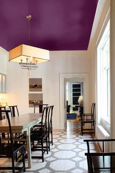 #5. Paint your ceilings an accent color -- 27 Easy Remodeling Projects That Will Completely Transform Your Home