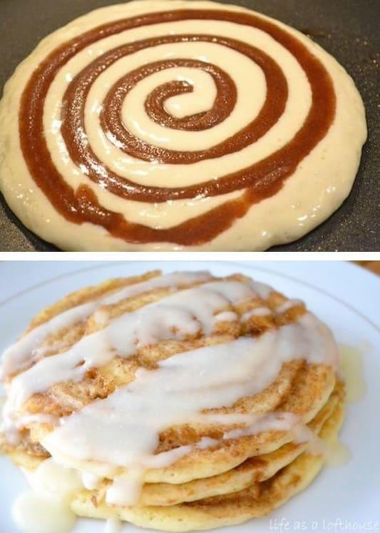 #7. Cinnamon Roll Pancakes -- 30 Super Fun Breakfast Ideas Worth Waking Up For