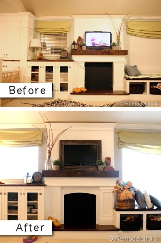 Frame your TV -- A list of some of the best home remodeling ideas on a budget. Easy DIY, cheap and quick updates for your kitchen, living room, bedrooms and bathrooms to help sell your house! Lots of before and after photos to get you inspired! Fixer Upper, here we come. Listotic.com