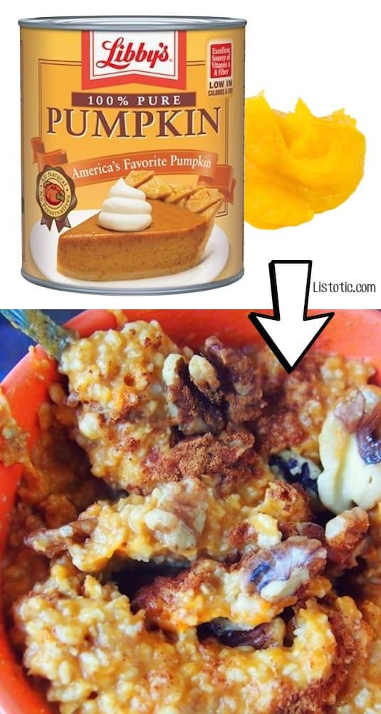 #12. Use leftover pumpkin puree to flavor your oatmeal! (Smoothies, too). | 24 Creative Ways To Use Leftovers
