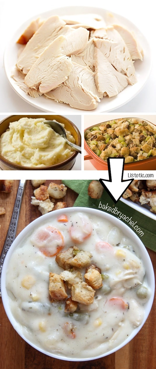 #18. Turn leftover Thanksgiving dinner into a slow-cooker chowder! | 24 Creative Ways To Use Leftovers