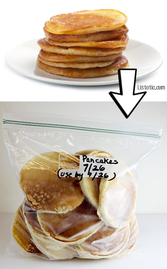 #21. Freeze leftover pancakes! | 24 Creative Ways To Use Leftovers