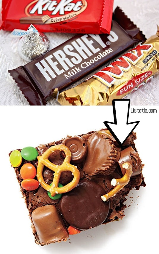 #4. Use leftover Halloween candy for brownies or cookies to share!   24 Creative Ways To Use Leftovers