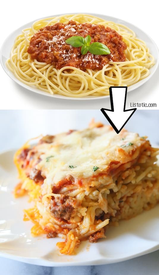 #6. Turn leftover spaghetti into baked spaghetti! | 24 Creative Ways To Use Leftovers