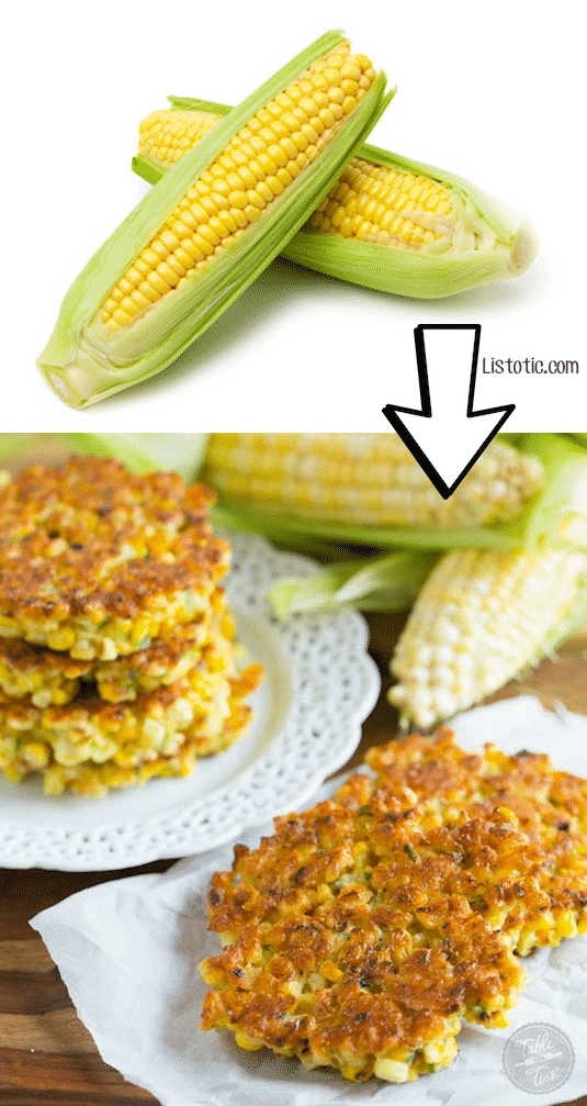 #8. Turn leftover corn on the cob into declious fritters! | 24 Creative Ways To Use Leftovers