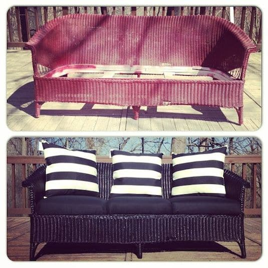 #25. Update and refurbish wicker furniture with spray paint! -- 29 Cool Spray Paint Ideas That Will Save You A Ton Of Money