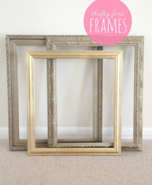 #29. Find old frames at thrift stores for super cheap, and then revitalize them with spray paint! -- 29 Cool Spray Paint Ideas That Will Save You A Ton Of Money