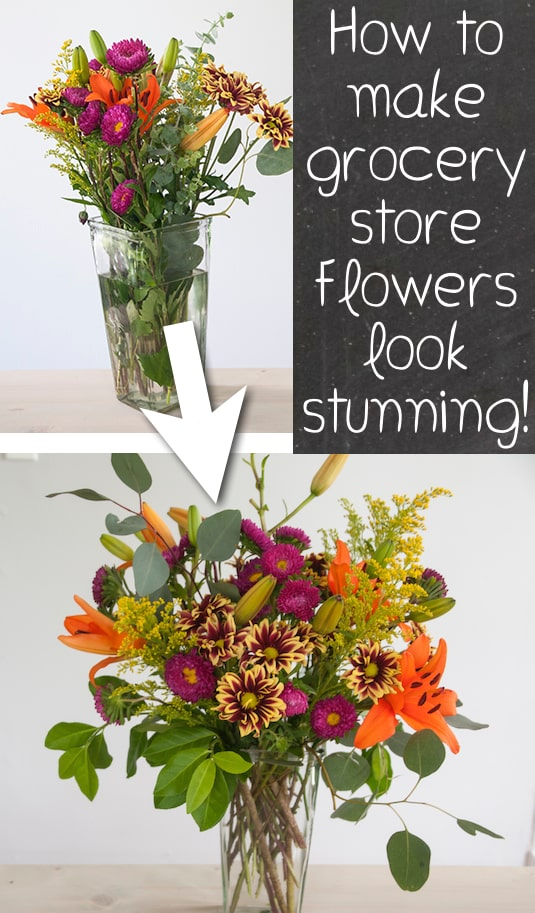 #13. Learn how to make grocery store flowers look gorgeous! -- 13 Clever flower Tricks