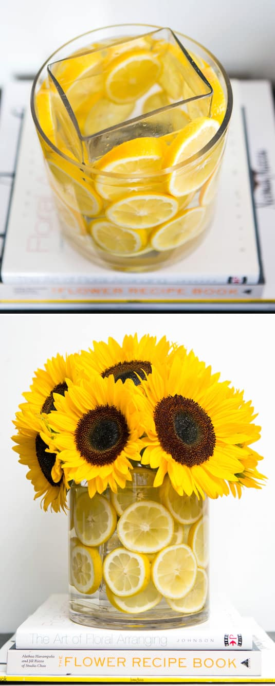 #5. Vase inside of a vase! Then decorate with anything that matches the season. -- 13 Clever Flower Arrangement Tips & Tricks