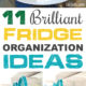 11+ Brilliant Fridge Organization Ideas