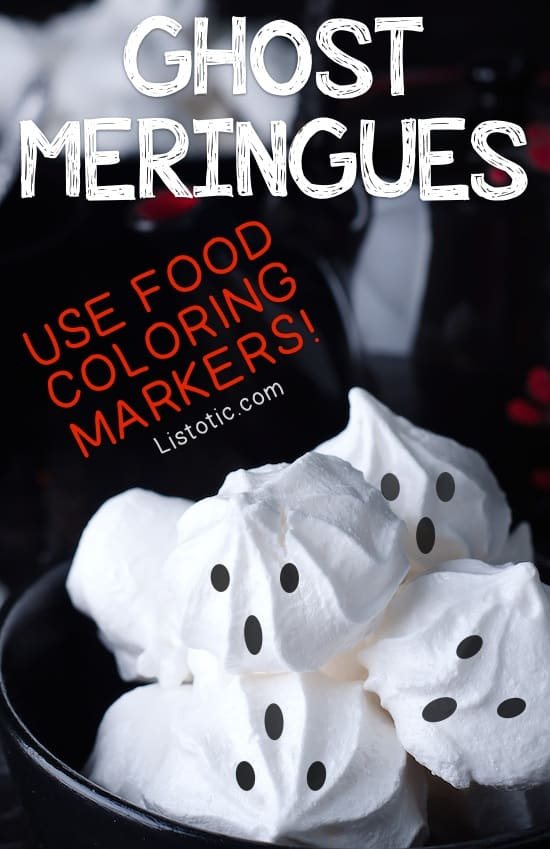 #7. Ghost Meringues | 15 Super Easy Halloween Treats To Make