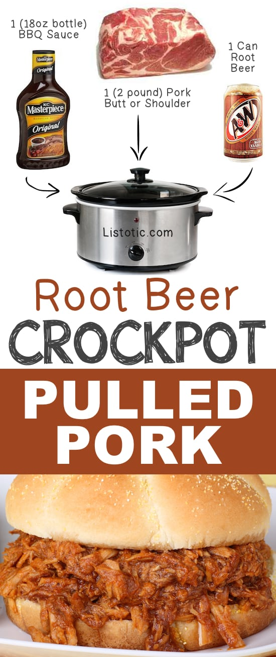 Root Beer Crockpot Pulled Pork Ways To Cook Meat In Your Crockpot
