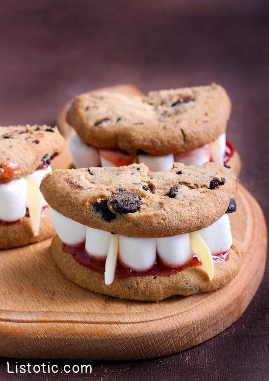 #9. Vampire Teeth Cookies | 15 Super Easy Halloween Treats To Make