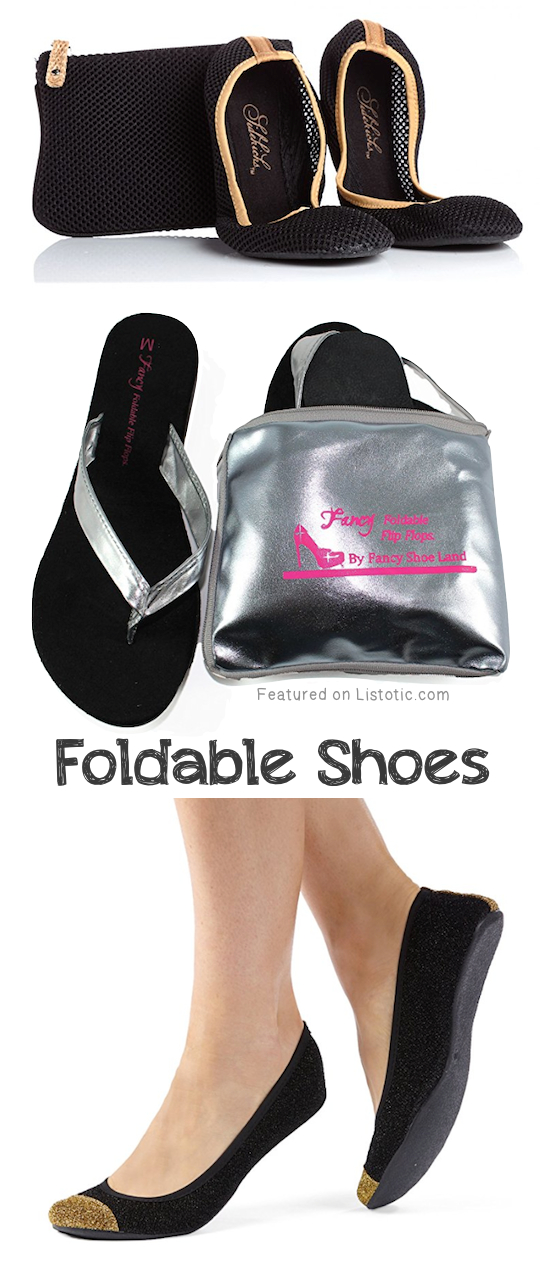 #8. Foldable Flats and Flip Flops | 8 Brilliant Products That Will Make Wearing High Heels Actually Bearable