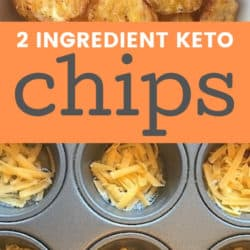 homemade keto chips with shredded cheese and egg whites
