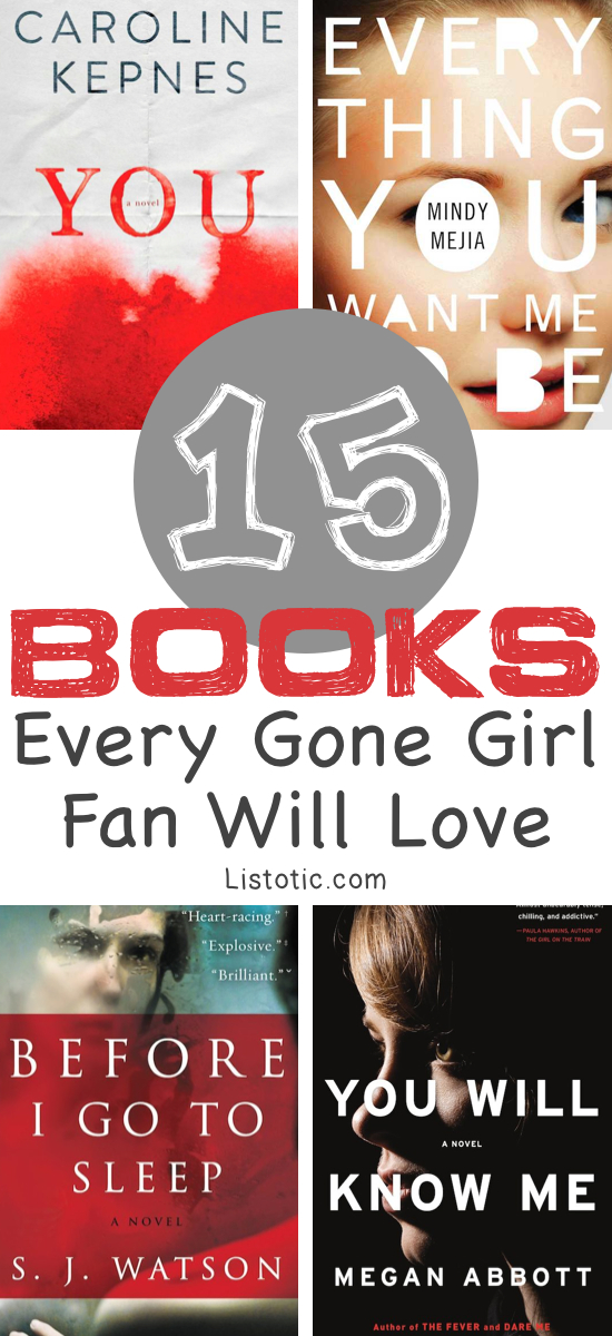 Spectacular books that every Gone Girl fan will LOVE! Books to read for women, or anyone who loves a good suspense thriller. :) | Listotic.com
