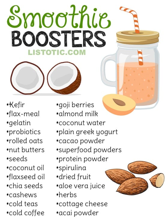Healthy Smoothie Tips and Ideas (plus 8 healthy smoothie recipes for kids and adults). Listotic