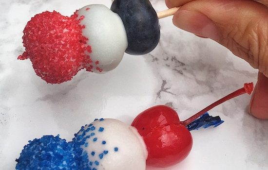 4th of July Fruit & Chocolate Skewers