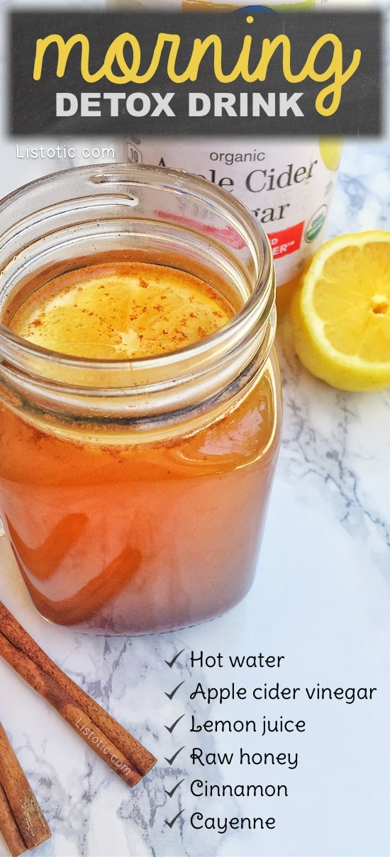 Apple cider vinegar detox drink cleanse for overall health, and to also help with weight loss and fat burning. Listotic.com