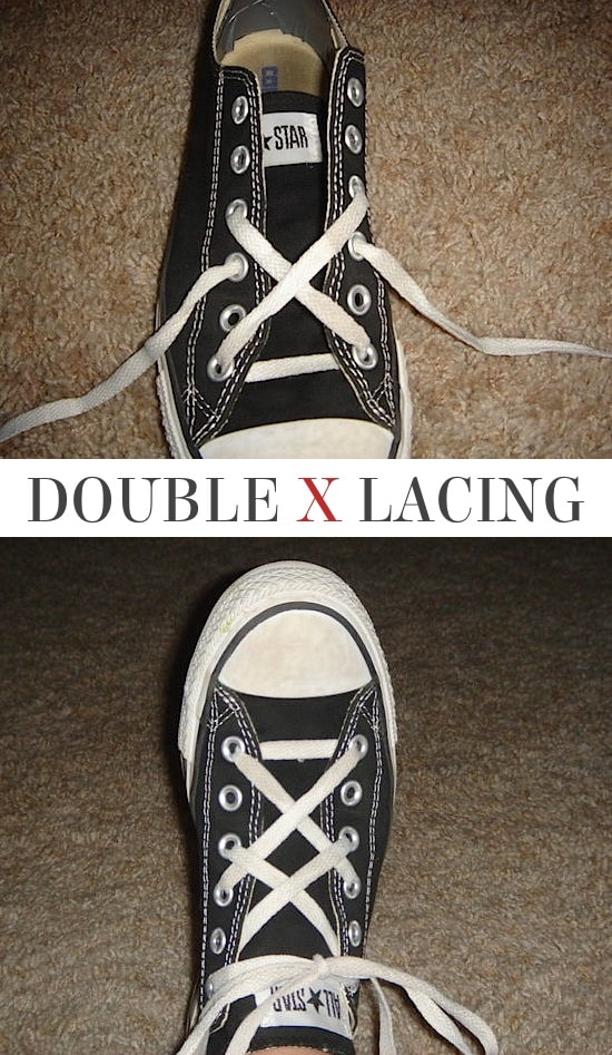 Double X Lacing | 5 Fun and creative ways to tie your shoes! How to tie your shoelaces cool with these easy lacing techniques.