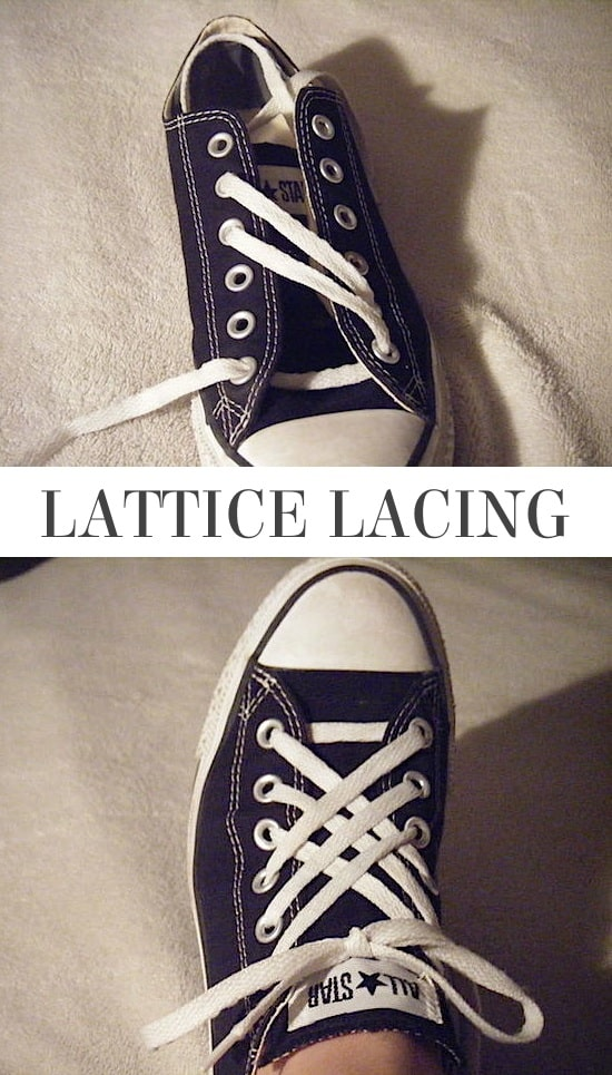 Lattice Lacing | 5 Fun and creative ways to tie your shoes! How to tie your shoelaces cool with these easy lacing techniques.