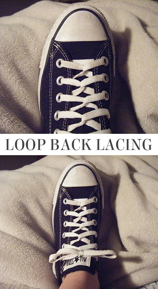Loop Back Lacing | 5 Fun and creative ways to tie your shoes! How to tie your shoelaces cool with these easy lacing techniques.
