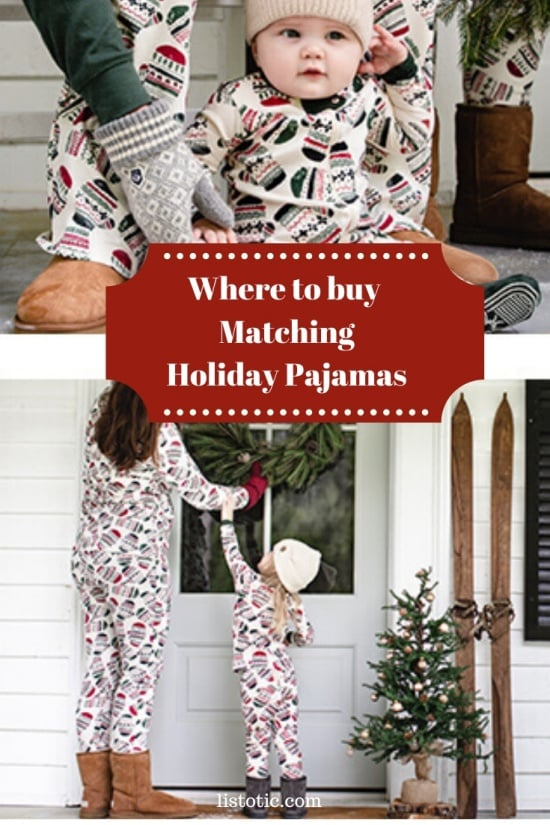 Warm jammies for the whole family.