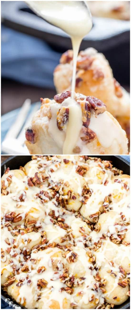 Orange pecan pull apart sticky buns.