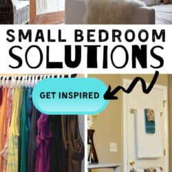 ideas for organization in a small bedroom