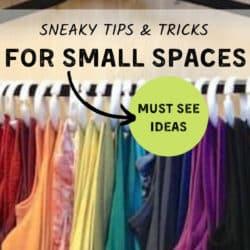 closet organization idea for tank tops