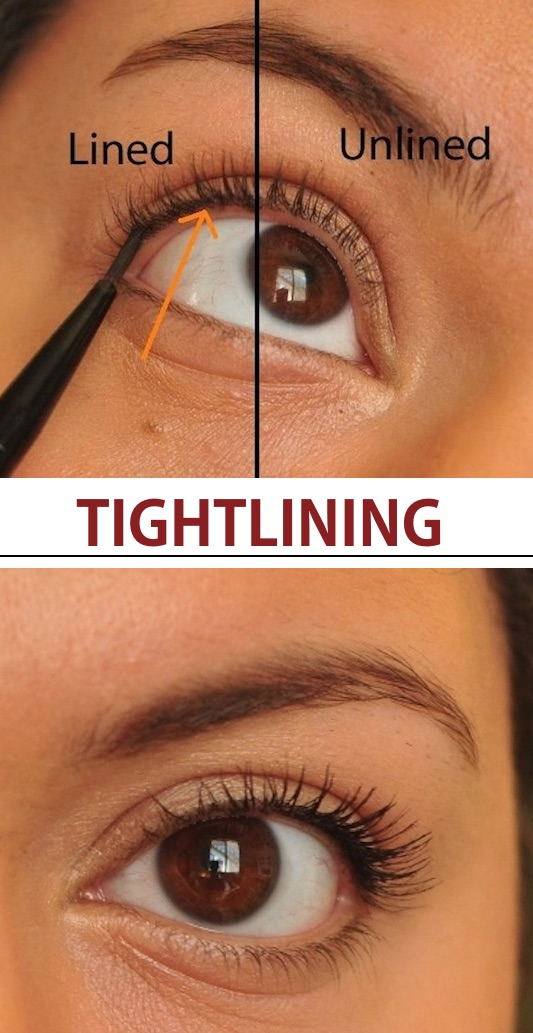 t's called tightlining, ladies. How to apply eyeliner for a natural look. -- Makeup tips and tricks for beginners, teens and even experts! These beauty hacks and step-by-step tutorials are perfect for women of any age, older or younger. Easy ideas and life hacks every girl should know. :) Listotic.com
