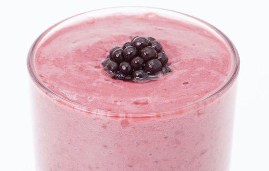 Low Carb Frozen Blackberry Shake