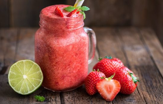 Low Carb Frozen Strawberry Limeade
