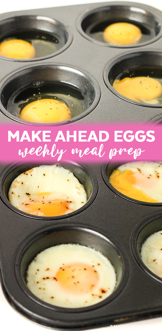 Make Ahead Meal Prep Eggs using a muffin pan! | These easy low carb and keto breakfast recipe ideas are perfect to make ahead of time, and simply grab for on the go! Meal prep can be a life saver! Eating healthy has never been so easy with these time-saving tips and tricks. Everything from casseroles to muffins! They're perfect for a ketogenic diet. Listotic.com