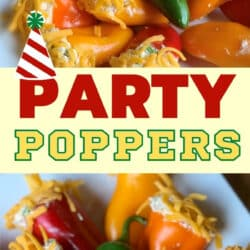 sweet mini peppers appetizer recipe with cream cheese filling