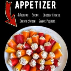 plate of party poppers appetizer