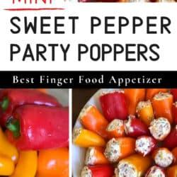 sweet mini peppers appetizer