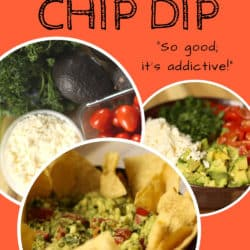 Avocado dip and chips