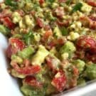 For guacamole fans! A dish of avocado crack dip. A party appetizer recipe.