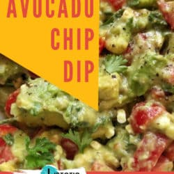 ingredients to make healthy avocado chip dip