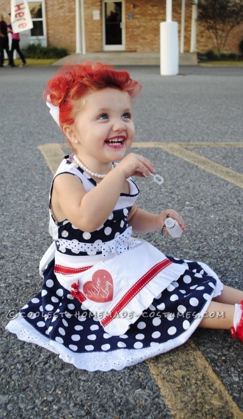 30 Easy DIY Halloween Costumes For Kids (Boys and Girls!) | I Love Lucy Homemade Costume-- cute for toddlers!