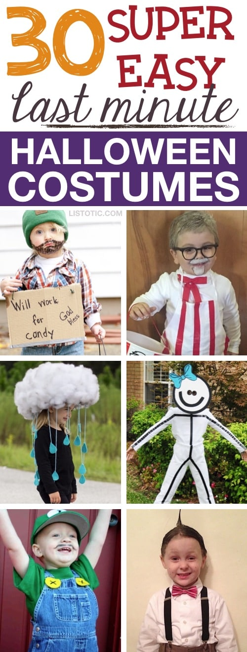 30 Quick Easy Diy Halloween Costumes For Kids Boys Girls